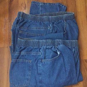 NWOT chic elastic waist jeans. Size 12 petite 🌷